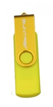 Накопитель USB 32Gb Suntrsi USB micro-B, USB 2.0 Flash Drive желтый