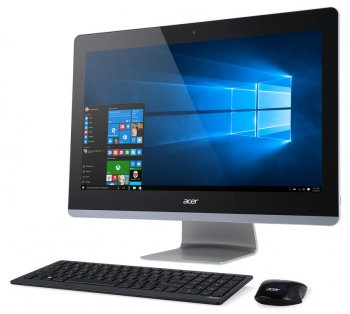 "Моноблок Acer Aspire Z3-715 23.8"" Full HD i5 6400T (2.2)/8Gb/2Tb/GF940 2Gb/DVDRW/Windows 10 Single Language/Eth/WiFi/BT/Spk/клавиатура/мышь/Cam/черный"