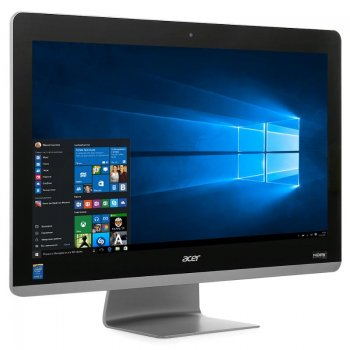 "Моноблок Acer Aspire Z3-711 23.8"" Full HD i3 5005U (2)/6Gb/1Tb/HDG/DVDRW/CR/Windows 10 Home Single Language/WiFi/BT/Spk/клавиатура/мышь/Cam/черный"