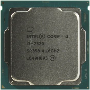 Процессор Intel Original Core i3 7320 Soc-1151 (BX80677I37320 S R358) (4.1GHz/Intel HD Graphics 630) Box