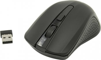 Мышь беспроводная Defender Accura Wireless Optical Mouse <MM-935 Black> (RTL) USB3btn+Roll <52935>