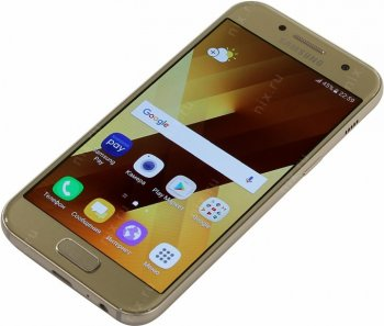 "Смартфон Samsung Galaxy A3 (2017) SM-A320FZDDSER Gold (1.6GHz,2Gb,4.7""1280x720,4G+WiFi+BT,16Gb+microSD,13Mpx)"