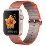 Часы многофункциональные APPLE Watch Series 2 42mm Pink Gold with Orange Space-Anthracite Band MNPM2RU/A