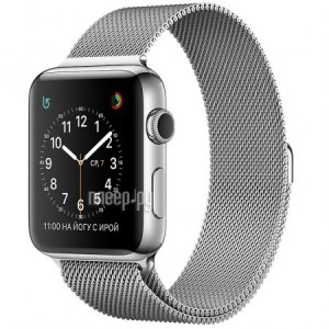 Часы многофункциональные APPLE Watch Series 2 38mm with Milanese Mesh Band MNP62RU/A