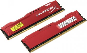 Оперативная память Kingston HyperX Fury <HX421C14FR2K2/16> DDR4 DIMM 16Gb KIT 2*8Gb <PC4-17000> CL14