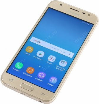 "Смартфон Samsung Galaxy J3 (2017) SM-J330FZDDSER Gold (1.4GHz,2Gb,5""1280x720,4G+WiFi+BT,16Gb+microSD,13Mpx)"