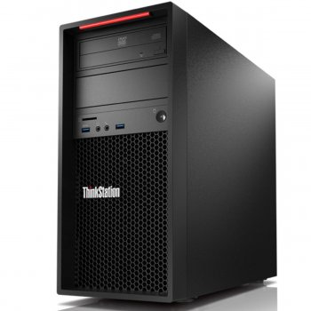 Системный блок Lenovo ThinkStation P320 MT Xeon E3 1245v6 (3.7)/8Gb/SSD256Gb/DVDRW/Windows 10 Professional/черный