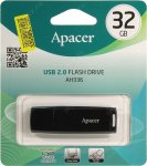 Накопитель USB Apacer AH336 <AP32GAH336B-1> USB2.0 Flash Drive 32Gb (RTL)