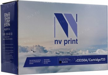 Картридж NV-Print аналог CE250A/Cartridge 723 Black для HP LJCP3525/3530MFP, Canon LBP-7750