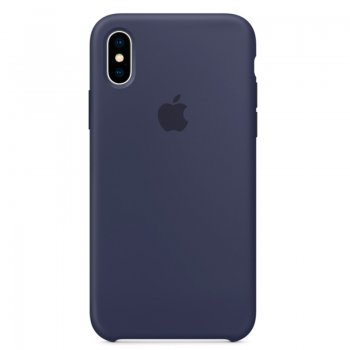 Чехол Apple для iPhone X, midnight blue (темно синий)