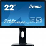 "Монитор Iiyama 21.5"" ProLite B2283HS-B3 черный TN+film LED 1ms 16:9 HDMI M/M матовая HAS Pivot 1000:1 250cd 170гр/160гр 1920x1080 D-Sub DisplayPort FH"