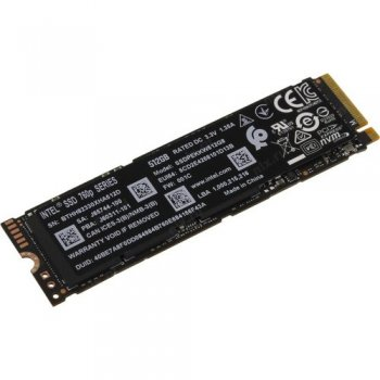 Твердотельный накопитель (SSD) Intel Original PCI-E x4 512Gb PEKKW512G8XT 760p Series M.2 2280
