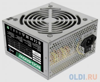 Блок питания Aerocool 600W Retail ECO-600W ATX v2.3 Haswell, fan 12cm, 400mm cable, power cord, 20+4P, 12V 4+4P, 1x PCI-E 6+2P, 4x SATA, 3x PATA, 1x F