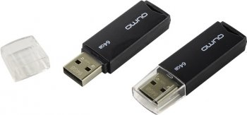 Накопитель USB Qumo Tropic <QM64GUD-TRP-Black> USB2.0 Flash Drive 64Gb (RTL)