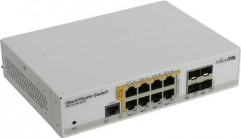 Коммутатор MikroTik <CRS112-8P-4S-IN> Cloud Router (8UTP/WAN 1000Mbps + 4SFP)