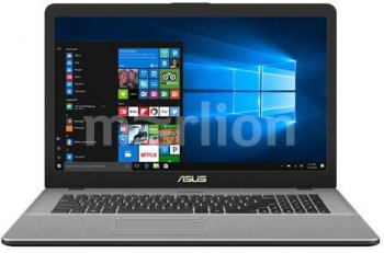 "Ноутбук Asus N705UN-GC014T Core i7 7500U/8Gb/1Tb/SSD128Gb/nVidia GeForce Mx150 2Gb/17.3""/FHD (1920x1080)/Windows 10/dk.grey/WiFi/BT/Cam"
