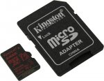 Карта памяти Kingston <SDCR/64GB> microSDXC Memory Card 64Gb A1 V30 UHS-I U3 + microSD-->SD Adapter