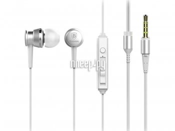 Наушники с микрофоном Baseus Lark Series Wired Earphones 1.2m White WEBASEEJ-LA0S