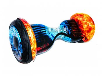 Гироцикл CarCam Smart Balance 10.5 Red Blue Fire