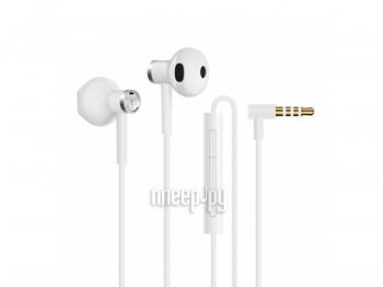 Наушники с микрофоном Xiaomi Mi Dual-Unit Semi-in-Ear BRE01JY White