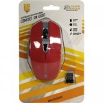 Мышь беспроводная Jet.A Comfort Wireless Optical Mouse <OM-U60G Red> (RTL) USB 6btn+Roll,