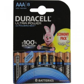 "Батарейка Duracell ULTRA POWER MX2400-8 (LR03) Size""AAA"", 1.5V, щелочной (alkaline) <уп. 8 шт>"