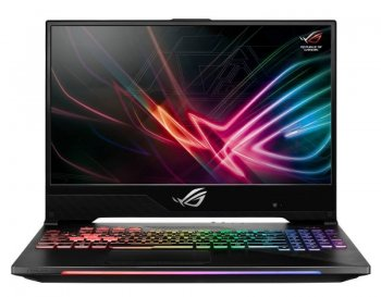 "Ноутбук Asus ROG GL504GV-ES092T Core i7 8750H/16Gb/SSD512Gb/nVidia GeForce RTX 2060 6Gb/15.6""/IPS/FHD (1920x1080)/Windows 10/black/WiFi/BT/Cam"