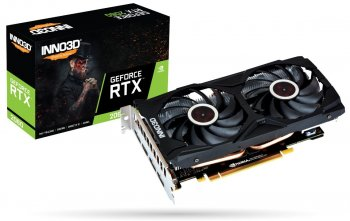 Видеокарта 6144 Мб <PCI-E> Inno3D GeForce RTX 2060 Twin X2 N20602-06D6-1710VA15L <RTX2060, GDDR6, 192bit, HDMI, 3xDP, Retail>