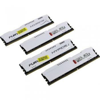 Оперативная память Kingston HyperX Fury <HX429C17FW2K4/32> DDR4 DIMM 32Gb KIT 4*8Gb <PC4-23400> CL17