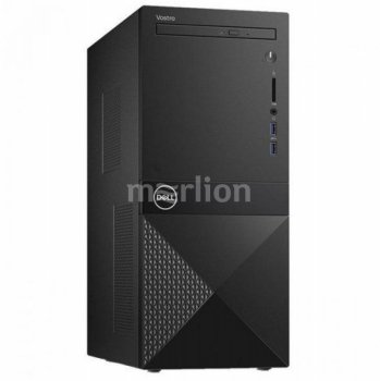 Системный блок Dell Vostro 3670 MT i3 9100 (3.6)/8Gb/1Tb 7.2k/UHDG 630/DVDRW/CR/Windows 10 Professional 64/GbitEth/WiFi/BT/290W/клавиатура/мышь/черный