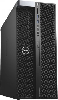Системный блок Dell Precision T5820 MT Xeon W-2123 (3.6)/16Gb/1Tb 7.2k/SSD512Gb/DVDRW/Windows 10 Professional 64/GbitEth/950W/клавиатура/мышь/черный