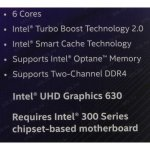 Процессор Intel Core i5-8600 BOX 3.1 GHz/6core/SVGA UHD Graphics 630/1.5+9Mb/65W/8 GT/s LGA1151