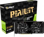 Видеокарта Palit PCI-E PA-GTX1660SUPER GP 6G nVidia GeForce GTX 1660SUPER 6144Мб 192bit GDDR6 1530/14000 DVIx1/HDMIx1/DPx1/HDCP Ret