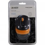 Мышь беспроводная A4Tech FSTYLER Wireless Optical Mouse <FG10 Orange> (RTL) USB 4btn+Roll