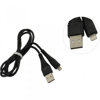 Кабель Smartbuy <iK-510n-2 Black> USB AM-->Lightning 1м