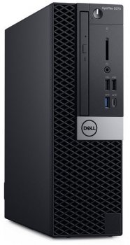 Компьютер Dell Optiplex 5070 SFF i7 9700 (3)/8Gb/SSD512Gb/UHDG 630/DVDRW/Windows 10 Professional/GbitEth/200W/клавиатура/мышь/черный