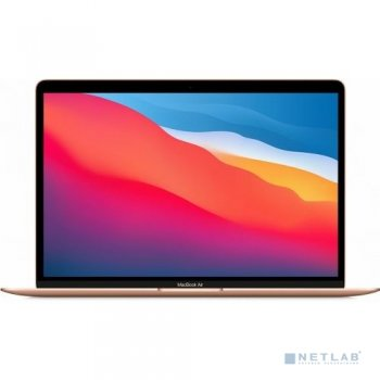 Ноутбук Apple MacBook Air 13 Late 2020 [Z12A0008R, Z12A/5] Gold 13.3'' Retina {(2560x1600) M1 chip with 8-core CPU and 7-core GPU/16GB/512GB SSD} (202